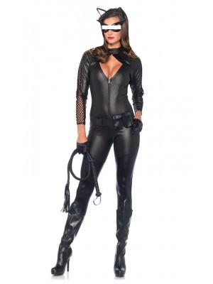 Cat Woman Donna Vestito Carnevale Maschera CATWOM1