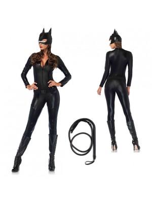 Cat Woman Donna Vestito Carnevale Maschera CATWOM2