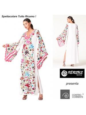 Vestito Donna Lungo Caftano Ricamato CC-CRO006L