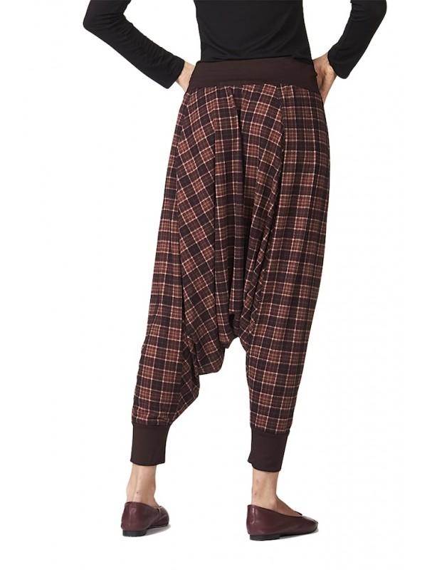 Pantaloni Donna alla Turca Invernali Fantasia Quadri CC-SQR052B3