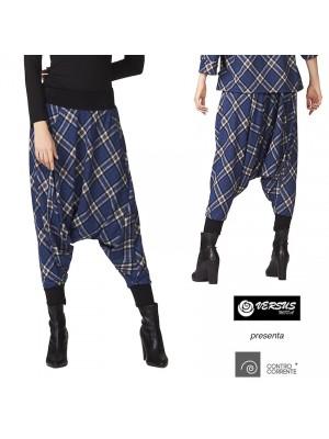 Pantaloni Donna alla Turca Invernali Fantasia Quadri CC-SQR052H1