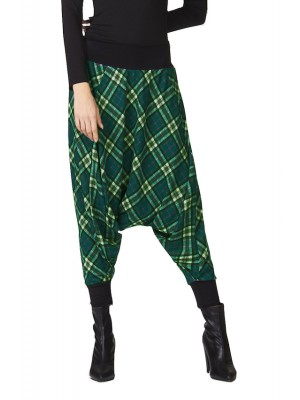 Pantaloni Donna alla Turca Invernali Fantasia Quadri CC-SQR052H3