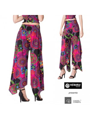 Pantaloni Donna Zampa Elefante Larghi CC-TAS02A2