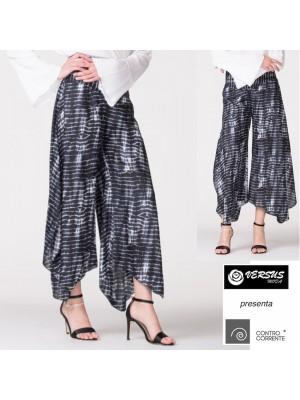 Pantaloni Donna Zampa Elefante Larghi CONTROCORRENTE CC-TAS02F1