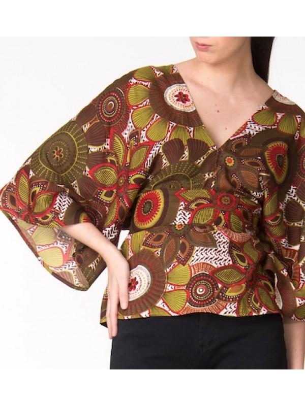 Maglia Camicia Donna Fantasia Etnica CC-TAS27D