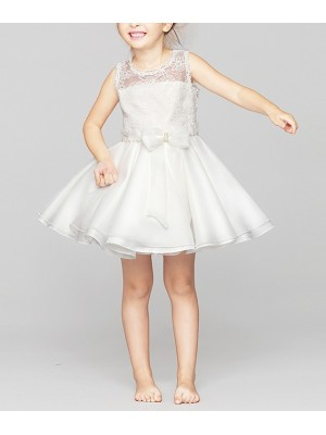 Vestito Pizzo Cerimonia Compleanno Bambina 2-10 anni CDR034