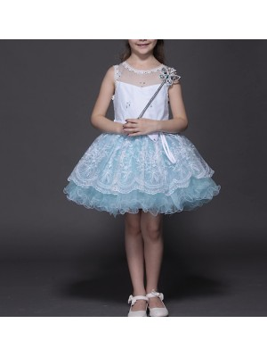 Vestito Strass Cerimonia Compleanno Bambina 2-10 anni CDR035