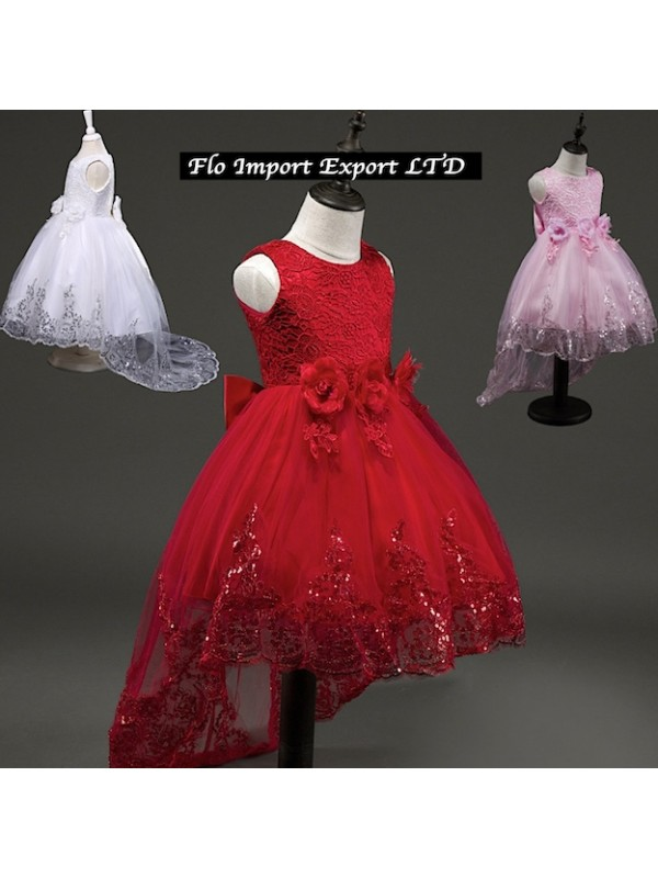 Vestito Elegante Bambina Cerimonia Feste Natale CDR042 1cb43a4d1be