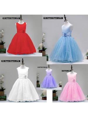 Vestito Cerimonia Elegante Bambina Feste Natale CDR044
