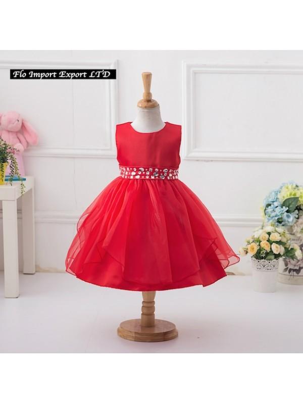 Vestito elegante rosso bambina – Abiti in pizzo bbc749ffa41