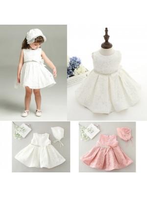 Vestito Bambina Abito Cerimonia Battesimo 0-24 Mesi CDR049B