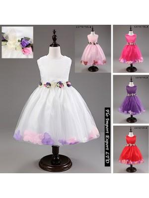 Vestito Bambina Cerimonia Floreale 1-11 anni CDR051