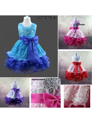 Vestito Bambina Abito Cerimonia Elegante CDR056