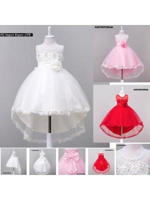 Vestito Bambina Abito Cerimonia Feste Elegante CDR058