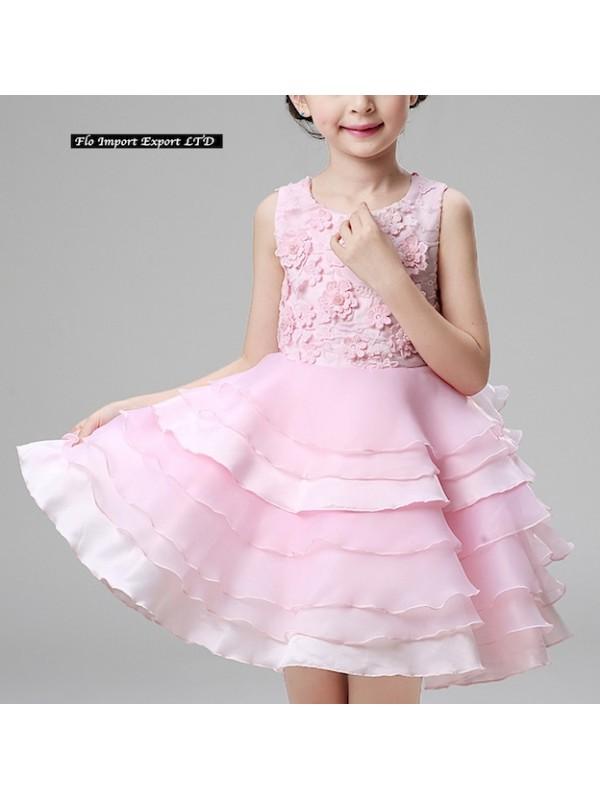 competitive price 6115c 32b31 Msgplquzv Cdr060 Vestito Bambina Elegante Fiori Abito ...
