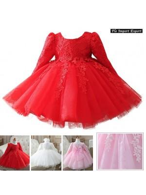 Vestito Cerimonia Feste Natale Bambina CDR063