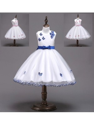 Vestito Bambina Abito Cerimonia Farfalle CDR070
