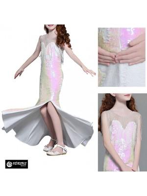 Vestito Bambina Cerimonia Comunione Lungo Girl Party Princess Dress CDR090