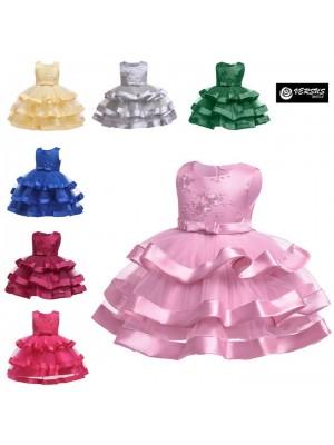 Vestito Bambina Cerimonia Feste Damigella Party Girl Maxi Dress CDR092