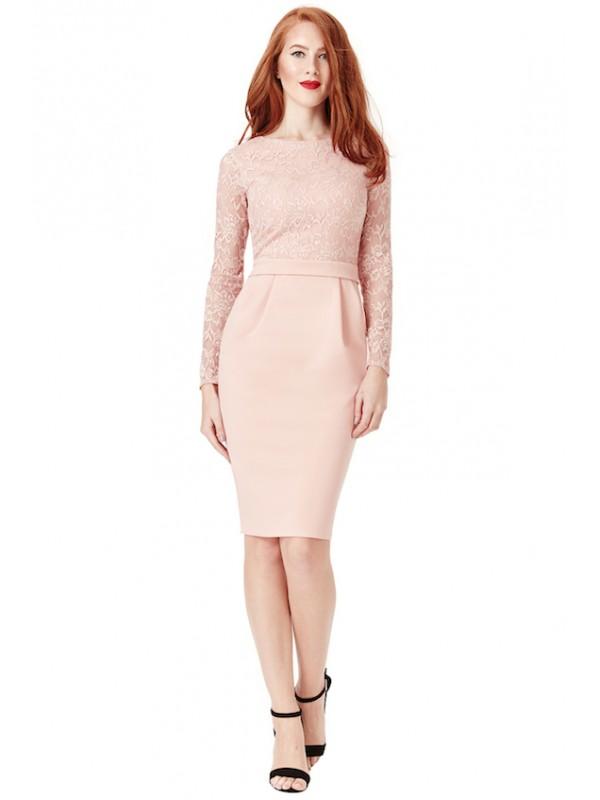 finest selection 7fbd4 07fdb Vestito Donna Abito Tubino Elegante Cerimonia Pizzo CG-DR969