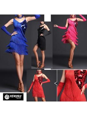 Vestito Frange Spettacolo Charleston Ballo Danza CHARL04