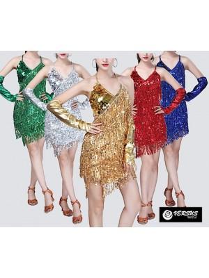 Vestito Frange Spettacolo Charleston Ballo Danza CHARL05