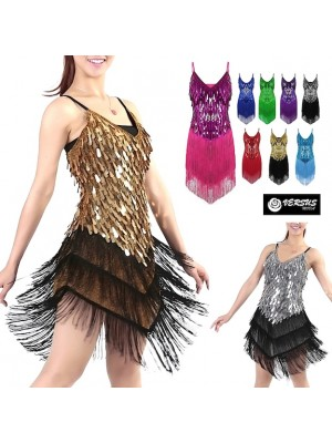 Vestito Frange Spettacolo Charleston Ballo Danza CHARL06