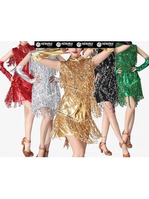 Vestito Frange Spettacolo Charleston Ballo Danza CHARL09