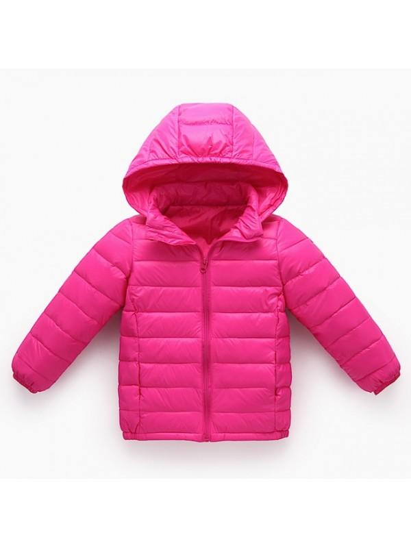 Giacca Bambina Bambino Caldo Piumino Leggero Inverno CHJAC01