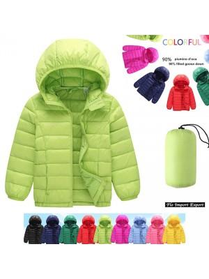 Giacca Bambini Inverno Piumino D'Oca Caldo Leggero CHJAC02