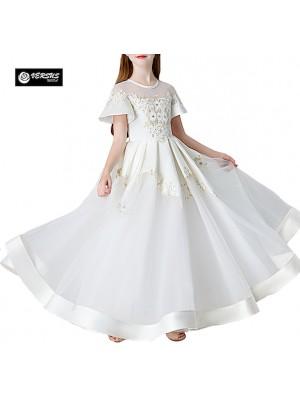 Vestito Bambina Cerimonia Comunione Ricamato COM020