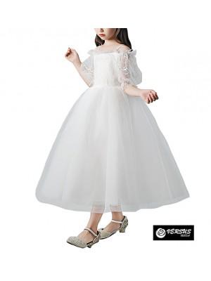 Vestito Bambina Cerimonia Comunione Ricamato COM030
