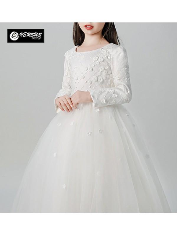 Vestito Bambina Cerimonia Comunione Ricamato COM033