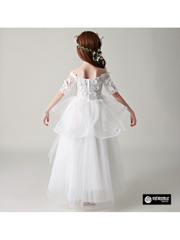 Vestito Bambina Cerimonia Comunione Ricamato COM034