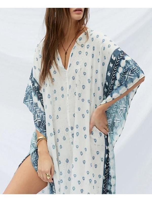 Vestito Lungo Copricostume Donna Maxi Dress Caftano Woman Kaftan Dress COV0074