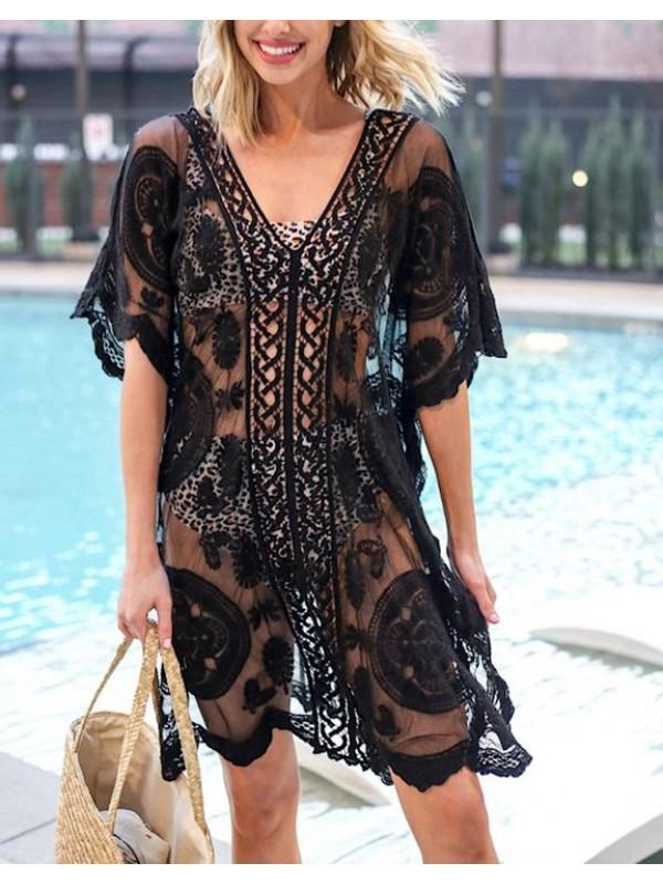 Vestito Lungo Copricostume Caftano Donna Maxi Dress Woman Kaftan COV0144