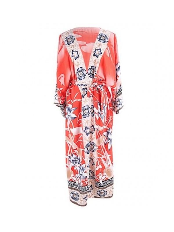 Vestito Lungo Copricostume Caftano Donna Maxi Dress Woman Kaftan COV0146