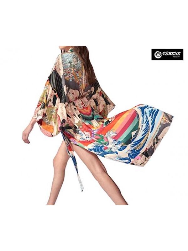 Vestito Lungo Copricostume Caftano Donna Maxi Dress Woman Kaftan COV0147