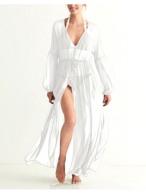 Vestito Lungo Copricostume Caftano Donna Maxi Dress Woman Kaftan COV0148