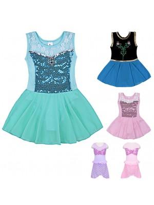 Vestito Tutù Saggio Danza Ariel Elsa Anna Aurora DANC112