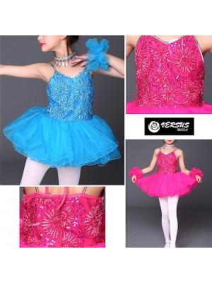 Vestito Tutù Saggio Danza Bambina Paillettes DANC128