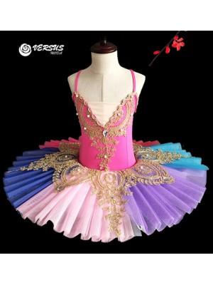 Vestito Tutù Multicolor Saggio Danza Bambina Ragazza DANC149