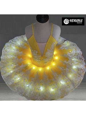 Vestito Tutù Luci LED Saggio Danza Bambina Donna DANC152