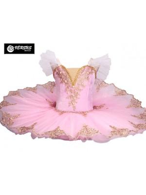 Vestito Tutù Ricamato Saggio Danza Bambina Ragazza DANC154