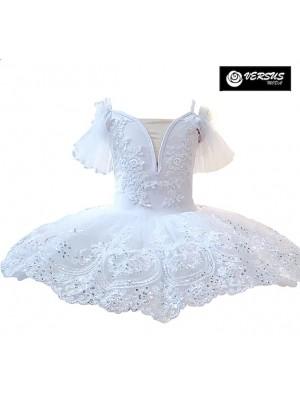 Vestito Tutù Ricamato Saggio Danza Bambina Ragazza DANC155