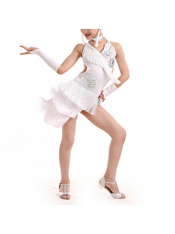 Vestito Tutù Saggio Danza Ballo Frange Bambina DANC172