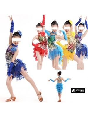 Vestito Tutù Saggio Danza Ballo Frange Bambina DANMO01