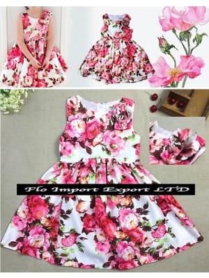 Vestito Bambina Abito Estate Rose DG0016
