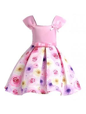 Vestito Bambina Estate Principessa Rosa DG0024B