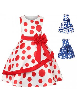 Vestito Bambina Abito Estate Pois DG0046B